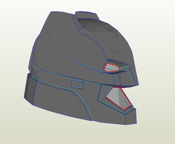 Batman Helmet foam template Bonus Neck Armor Patterns