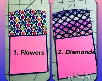 Secret Pal Gift, Post It Pads, Coworker Gifts, Monogram Sticky Note Holder,