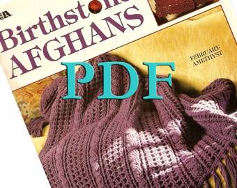 PDF - Birthstone Afghans, 1996, 12 designs