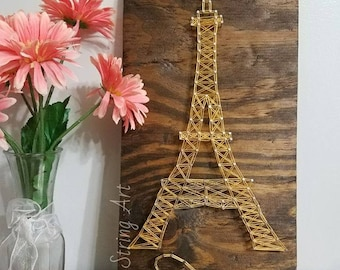 Eiffel tower string art, Paris string art, Eiffel tower Paris, France,wood sign, christmas gift, holiday gift, wall decor, home decor, art