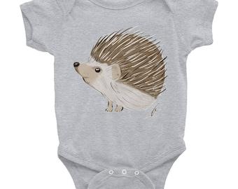 Hedgehog Infant Bodysuit Onesie | Hedgehog Onesie | Hedgehog Gift | Hedgehog Baby Onesie | Hedgehog Infant Onesie