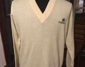 Vintage 1990's Irish Sweater Authentic Made in Ireland