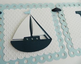 Nautical It's A Boy Banner Nautical Baby Shower Light Blue Nautical Shower