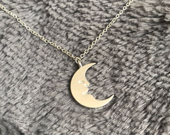 Crescent Moon Lune Luna Necklace