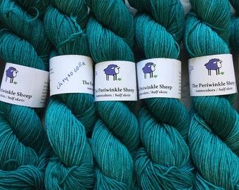 watercolors sock yarn - half skeins - Chrysocolla