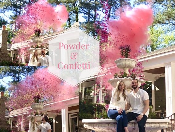 """24"""" Confetti Cannon & Powder Cannon Gender Reveal Smoke Powder Cannons and Confetti cannons!  New Gender Reveal Idea!"""