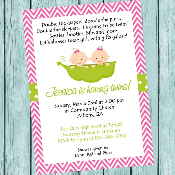 Twins invitation twins baby shower twin girls invitation twins twins invitation twins baby shower twin girls invitation twins invite two peas in a pod digital printable baby sprinkle invitation filmwisefo Image collections