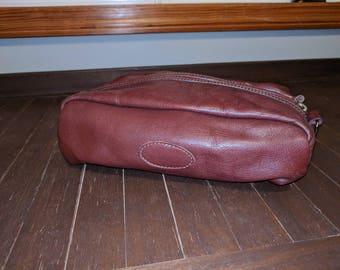 Vintage Oxblood Toiletry Travel Bag