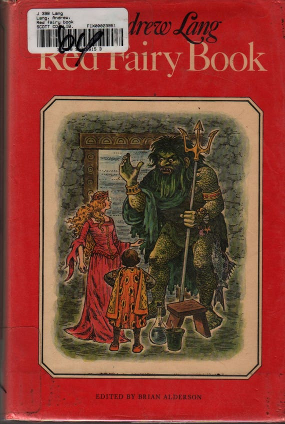 Red Fairy Book + Andrew Lang + Faith Jaques + 1976 + Vintage Kids Book