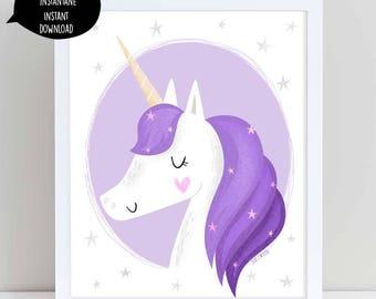 Unicorn,unicorn wall art, unicorn poster, unicorn print, unicorn printable, unicorn art, unicorn digital, nursery wall art, girl room decor