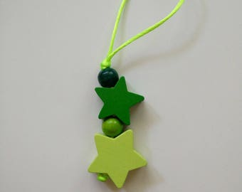 Small Christmas decoration to your Christmas tree, green stars