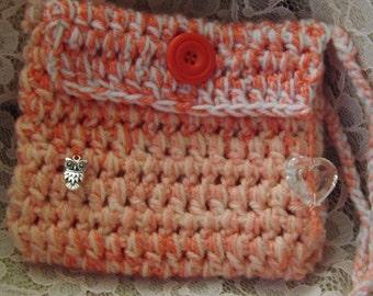 Crochet Girls Shoulder bag,  Crochet Passport bag, Shabby Chic, Bohemian