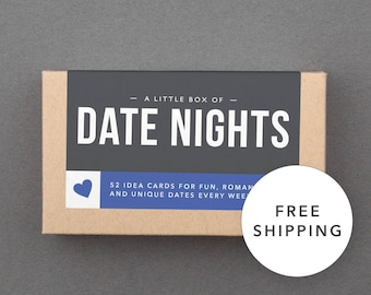 Fun, Romantic 1 Year First Anniversary Gift. For Boyfriend, Girlfriend, Husband, Wife. Date Night Box. Ready to Ship, Free Shipping. (L5DAT)