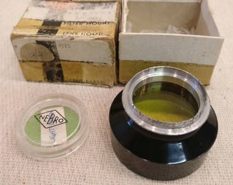 Vintage Nebro Black Cross Filter Mount and Lens Hood 31mm