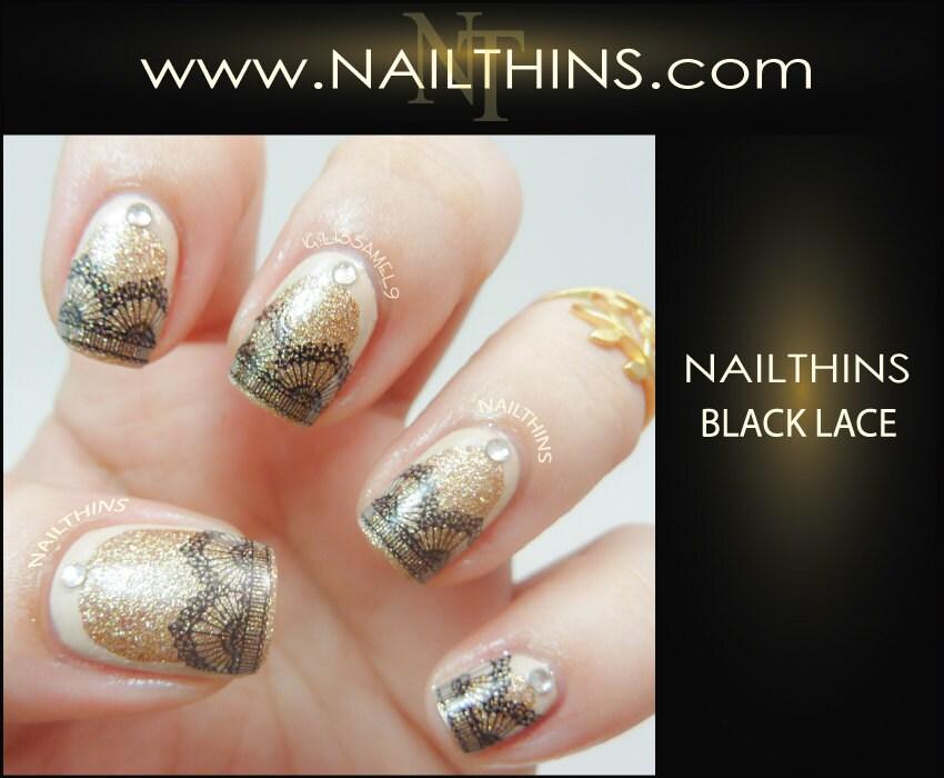 Lace Nail Decal Black Lace Nails Nail Design NAILTHINS
