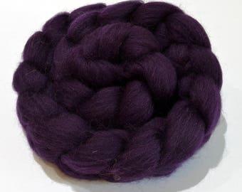 Shetland Wool Combed Top - Dark Purple - Conservation Breed - 100 grams