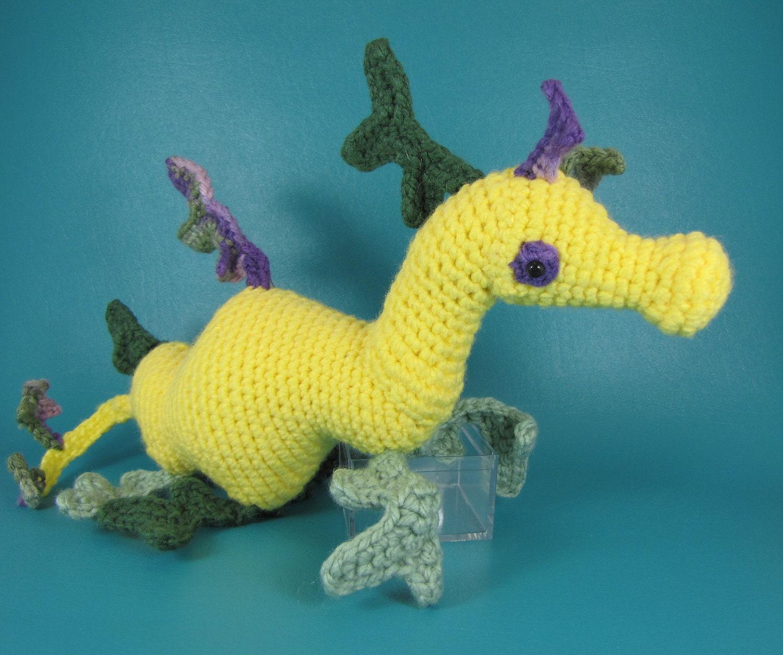 Sea Dragon PDF amigurumi crochet pattern