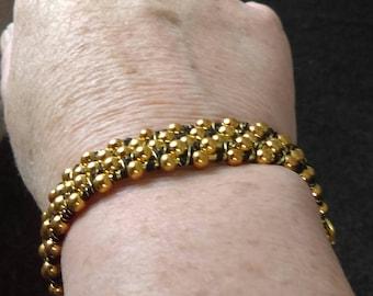 Seed Bead Bangle style bracelet