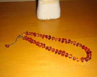 Vintage Amber and Silver Necklace