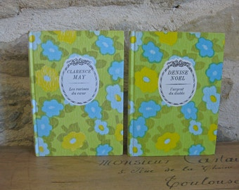 French books with retro floral hardback covers