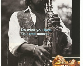 1996 Advertisement Southern Comfort Do What You Love The Rest Comes Take It Easy Saxophone Player Bar Pub Restaurant Wall Art Decor