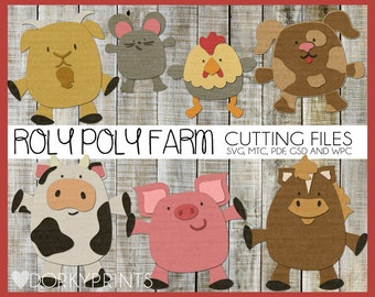 Farm Animals Cuttable Files -For Use with Cutting Machines - svg, mtc, pdf, gsd, and wpc files, Farm Animals SVG