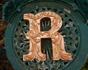Large Letter R Victorian Style Letter Stand Alone Letter Alphabet R, Vintage Lettering, Vintage Floral R, Letter R