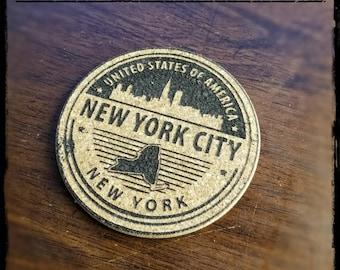 New York City Cork Coaster