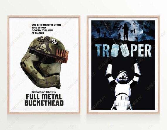 star wars movie posters set of 2 full metal jacket