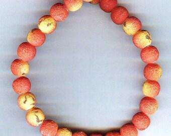 Matte Apple Coral Limestone Beads 10mm 10pcs UNIQUE QUALITY