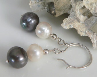 Freshwater Pearls and Sterling Silver findings.