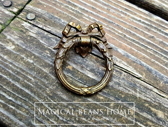 Ribbon U0026 Bow Ring Pulls Victorian Furniture Pulls Romantic Gift KBC Dresser  Pulls Dark Brass Chocolate Drawer Pulls Dresser Hardware O Ring From ...