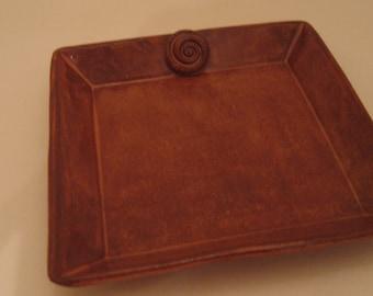 Hand Built Pottery Tray