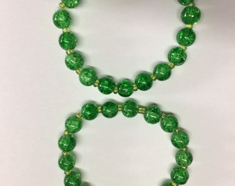 Beaded bracelets, jewelry, bracelets, green bracelets, beaded bracelet Set