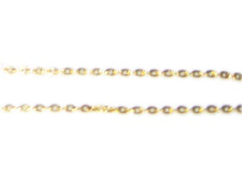 """1mm Gold Link Chain, 40"""" length"""