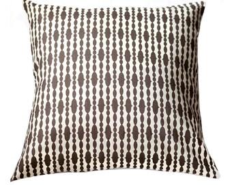 Organic Pillow Cover - Raindrops Chocolate