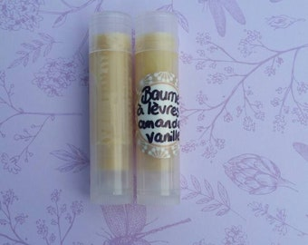 Almond vanilla vegan lip balm