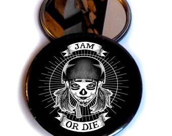 """POCKET MIRROR rollr derby """"jam or die"""""""