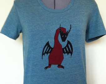 Dragon T Shirt-Dragon Tee for Women-Red Dragon T Shirt-Graphic Art Tee-Dragon Shirt-Feminine Fit