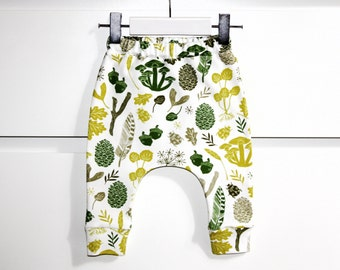 Organic baby clothes / organic baby leggings / baby leggings / baby harem pants / baby pants / toddler pants / kids clothes / baby clothing