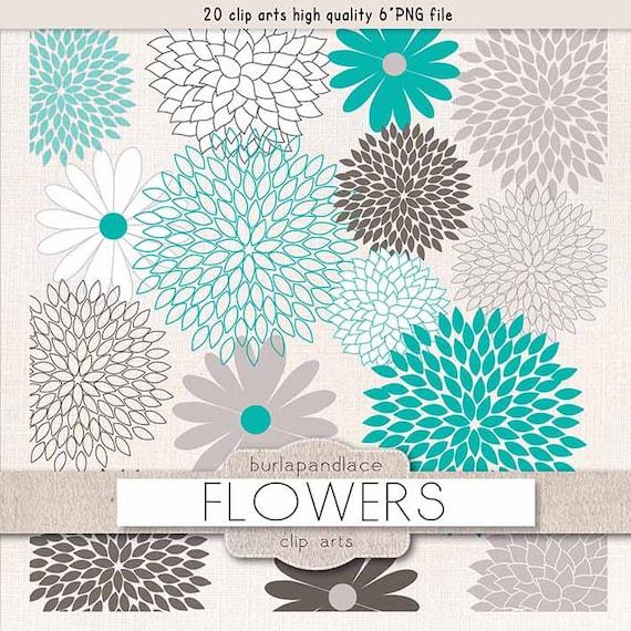 clipart flower cliparts dahlia teal grey dahlia clipart rh etsy com dahlia flower clipart blue dahlia clipart