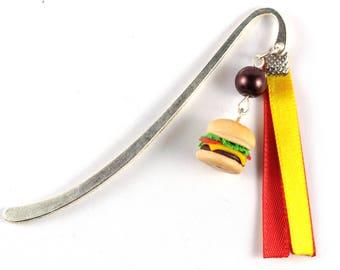 Hamburger and yellow and Red Ribbon bookmark