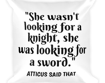 "Atticus ""Sword"" Square Pillow"