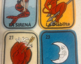 Set of 4 Loteria Patches