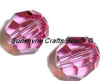 Swarovski Crystal Beads 5000 Series ROSE Faceted Round Bead - Sizes 4mm, 6mm, 7mm, 8mm & 10mm available