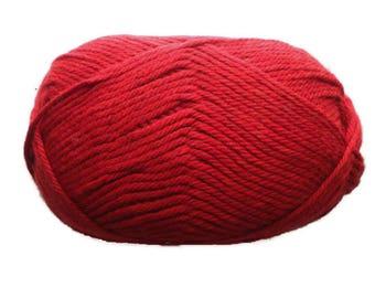 SALE Red Organic Cotton Yarn- Worsted Weight - Eco Cotton Yarn - Red Cotton Yarn - Vegan Cruelty Free Yarn - Earth Friendly Yarn - Eco Yarn