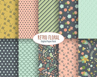 Retro floral paper