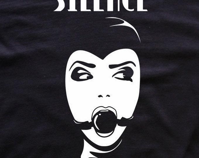 Silence T-shirt bdsm/fetish tees