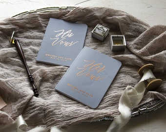 Vow Book Rose Gold Vow Book, Vow Books Personalized Vow Books, Wedding Vow Book Personalize