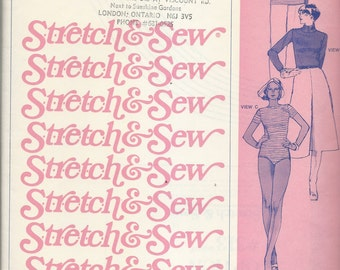 Uncut Vintage Sewing Pattern #313 - Stretch & Sew Fitted T-Shirt with BODY SUIT OPTION - Ann Person 1977  -Sizes 28-44 - for Knit Fabrics